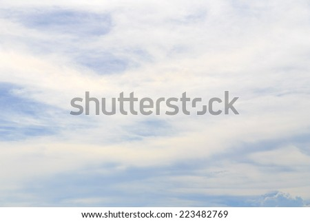 Clouds on sky. - stock photo