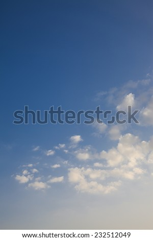 clouds on the blue sky