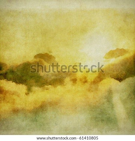 clouds on the grunge background - stock photo