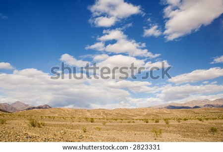 clouds over death valley - stock photo