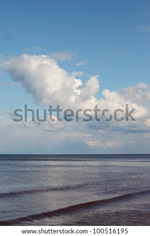Clouds over gulf of Riga, Baltic sea.