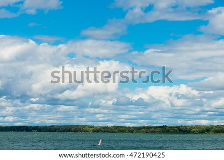 Clouds over Lake Simcoe