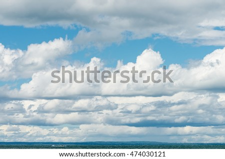 Clouds over Lake Simcoe, Ontario