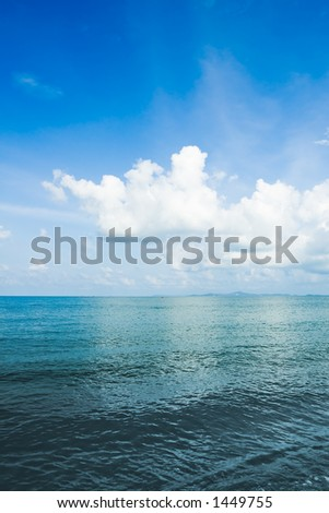Clouds over sea Thailand - stock photo
