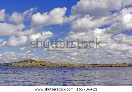 Clouds Over Seagull Lake in the Boundary Waters