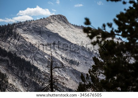 Clouds Rest from Tuolumne Meadows, Yosemite National Park, California  - stock photo