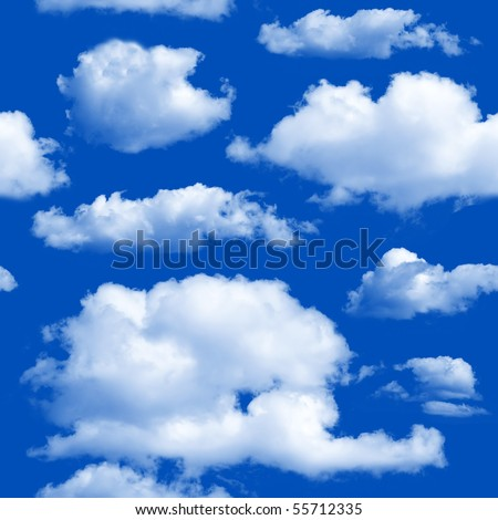 Clouds seamless background - texture pattern for continuous replicate. - stock photo