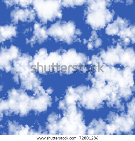 Clouds Seamless tile - stock photo