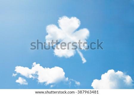 Clouds shape like Clover. - stock photo