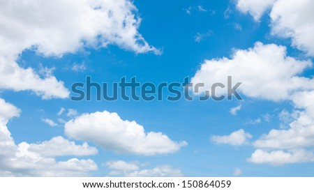 clouds with Blue sky. - stock photo