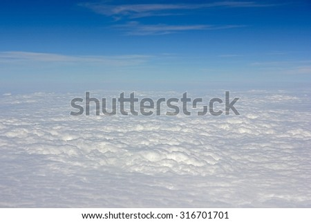 Clouds with blue sky background. - stock photo