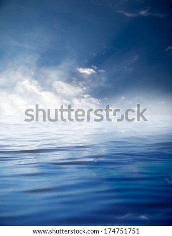 clouds with reflection on water
