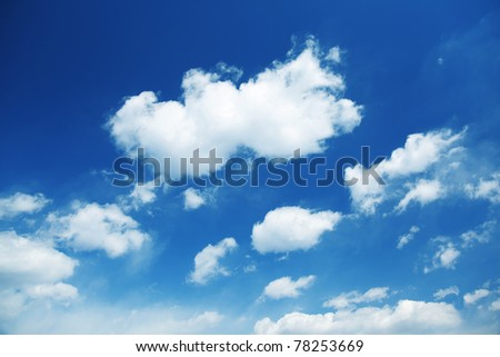 cloudscape - stock photo