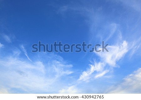 Cloudscape and blue sky. - stock photo