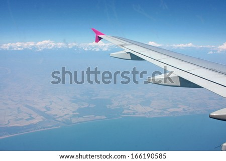 Cloudscape Around Ocean of Clouds  - stock photo