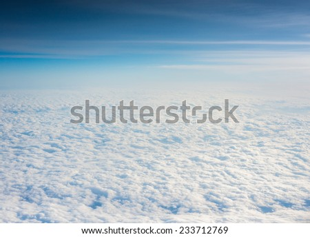 Cloudscape. Blue sky and white cloud. Sunny day