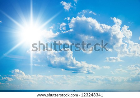 Cloudscape Divine Cloudy Outdoor - stock photo