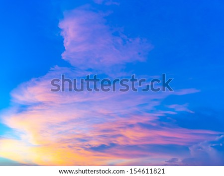 Cloudscape during sunset - stock photo