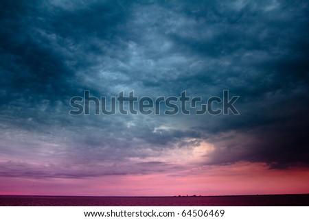 Cloudscape Heaven Sunrise - stock photo