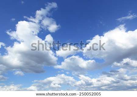 Cloudscape, may be used as background - stock photo