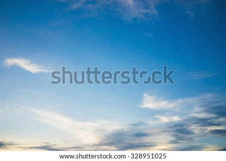 Cloudscape on blue sky on clear day