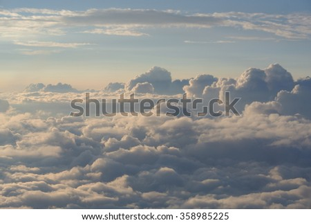 Cloudscape: The View Above the Clouds - stock photo
