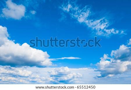 Cloudscape Wallpaper Pattern - stock photo