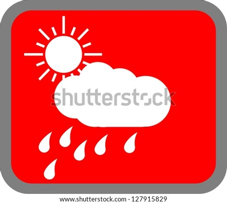 Cloudy, barometer, rain, icon vector - stock photo