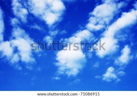 Cloudy blue sky - stock photo