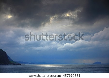 Cloudy day in northeast coast in Taiwan