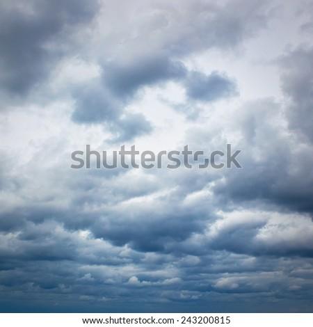 Cloudy dramatic sky - stock photo