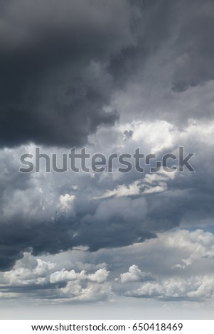 Cloudy dramatic sky