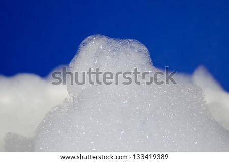cloudy foam - stock photo