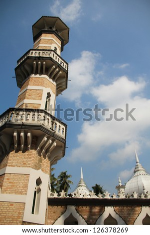 Cloudy Mosque - stock photo