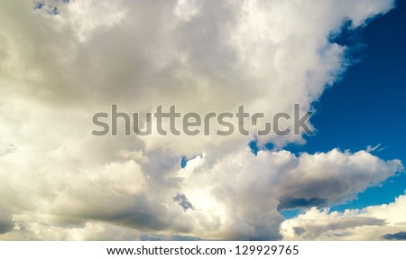 Cloudy Outdoor Coming Storm - stock photo