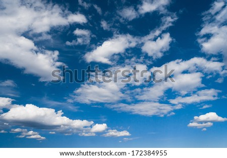 Cloudy Outdoor Shining Day  - stock photo