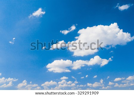 Cloudy Outdoor Summer Heavens  - stock photo