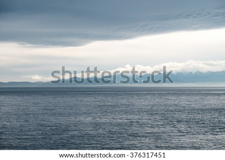 Cloudy shoreline of the Olympic Peninsula