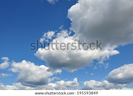 Cloudy skies - stock photo