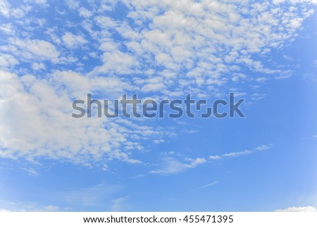 cloudy sky and clear sky clouds background - stock photo