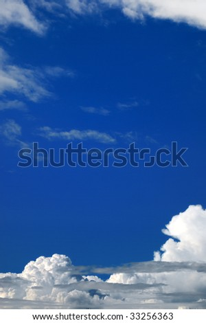 Cloudy sky as natural background.