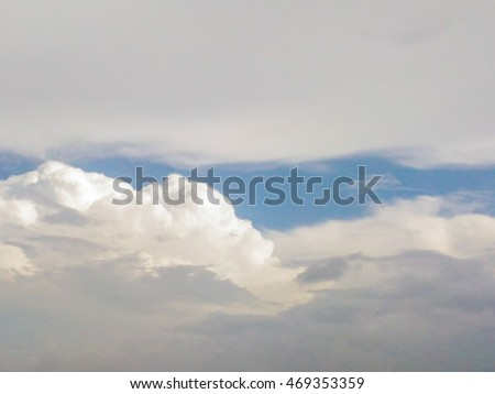 Cloudy sky closeup for background