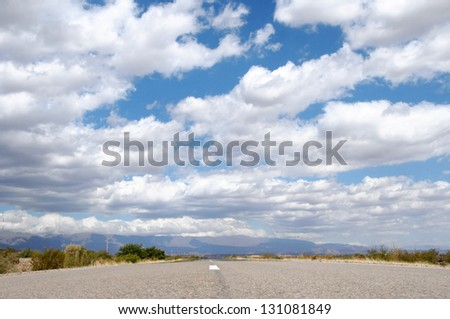 Cloudy sky,North Argentina - stock photo
