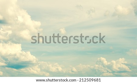 Cloudy sky 16:9 vintage abstract background. - stock photo
