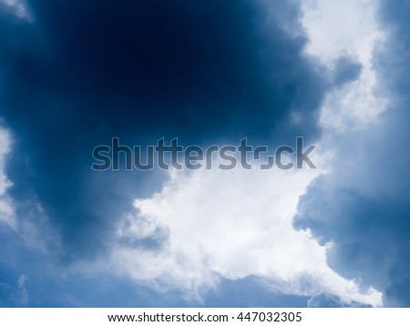 Cloudy stormy black and white dramatic sky background - stock photo