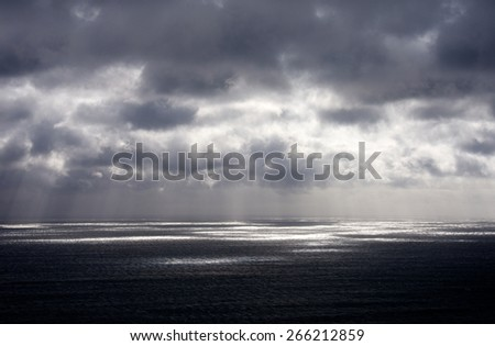 Cloudy weather over seas