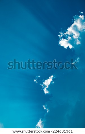 Cloudy with light - stock photo