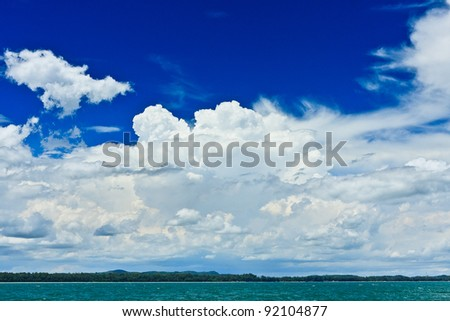 Clound in blue sky - stock photo