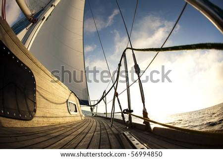 Clous up Sailing - stock photo