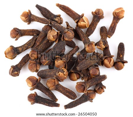Clove, isolated on white background